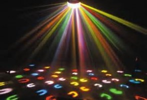 neon disco lights