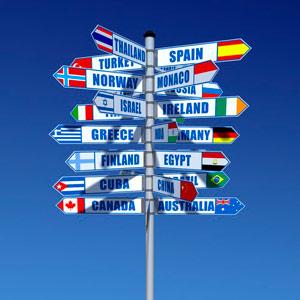 around the world sign